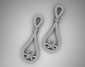 platinum Jewelry Earrings 3D print model