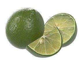 citrus lime fruit 3D model