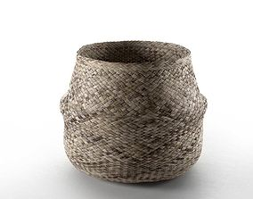 Wicker Basket storage 3D model