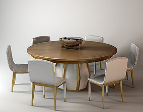 Baker Bezel Dining Table by Laura Kirar 3D