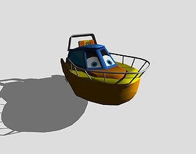 3D asset Speedboat
