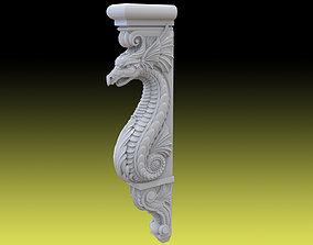 sculpture 3D print model Draco baluster