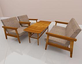 3D printable model Sofa living table