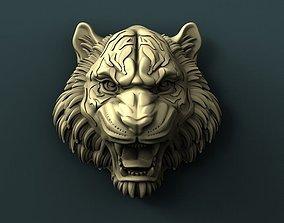 Tiger head 3d stl model for cnc