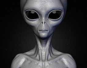 Realistic Alien 8 Sculpt 3D model