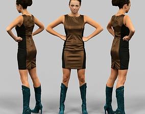 3D asset Boss Girl