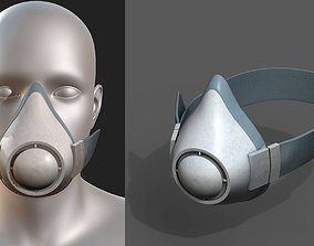 3D asset Gas mask protection safety futuristic technology