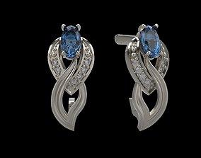 3D print model Earrings with gems