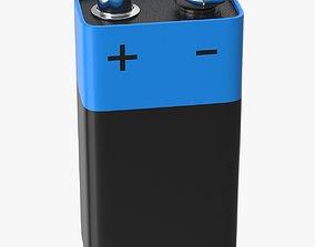 Battery 9v 3D asset VR / AR ready