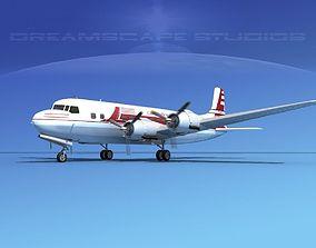Douglas DC-6 Capital Airlines 3D