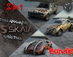 Post-Apocalyptic Road Warriors Bundle 3D model