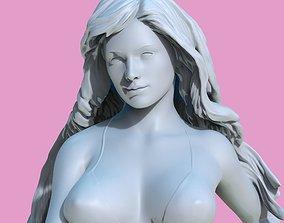 Sexy girl with the big gun 3D printable model