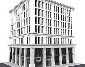 New York corner building 3D