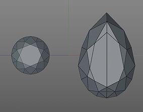 diamond 3D model game-ready
