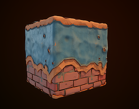 3D Substance Designer Wall Painted Stylized end Video
