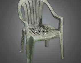 3D asset Lawn Chair TLS - PBR Game Ready