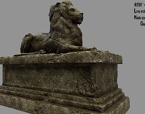 3D asset Lion Statue 28