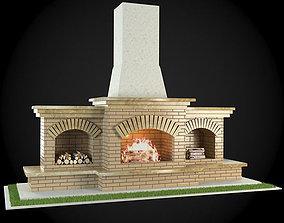 3D model Garden Fireplace mantelpiece