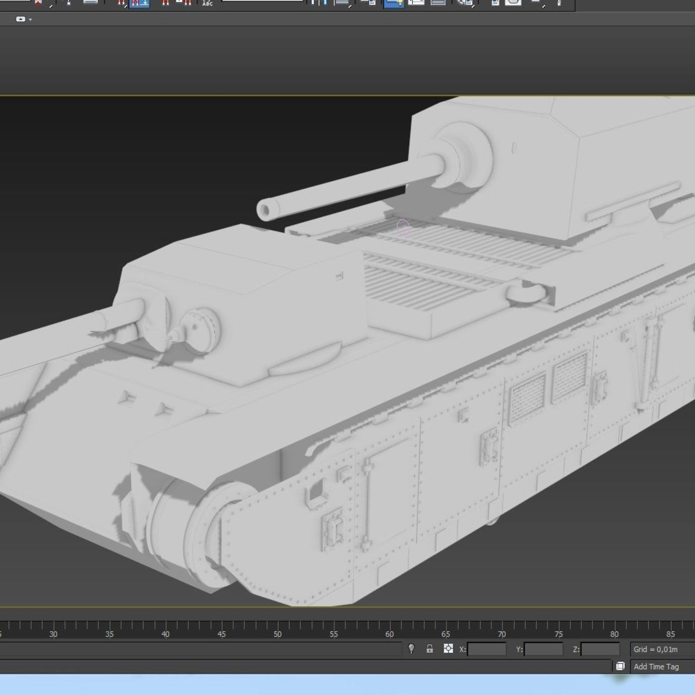 Making France Tank fcm-f1