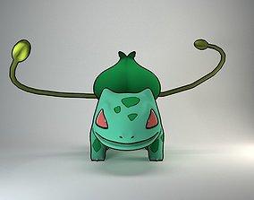 Bulbazaur Pokemon character 3D asset rigged
