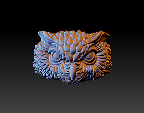 3D printable model owl ring apparel