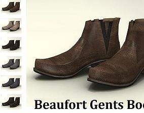3D Model Beufort Boots Male Footwear realtime