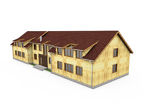 3D Wooden Timber House