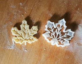 Maple leaf cookie cutter 3D printable model