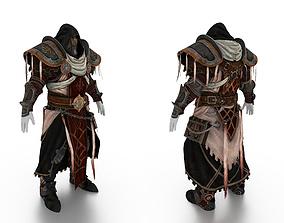 Priest Full Body Armor 3D asset