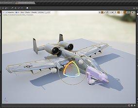 3D model A-10 Wathog or Thunderbolt II Fighter