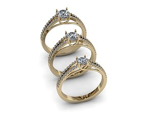 diamant Jewelry Rings NINE RINGS 3D print model