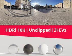 HDRi - Castle Square and Sun 3D