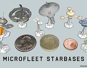 MicroFleet Starbases and Outposts Pack 3D printable model