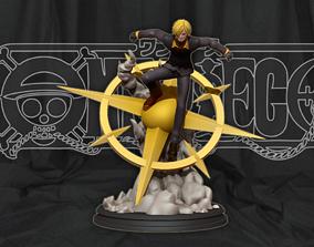 Sanji vinsmoke - One Piece Anime 3d print statue
