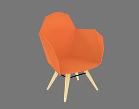 cadeira lowpoly moderna 3D model