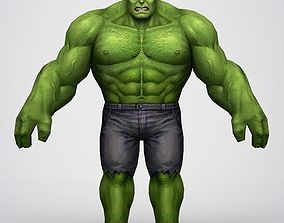 Game Ready Superhero Hulk 3D asset