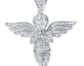 Angel diamond pendant design 3D printable model