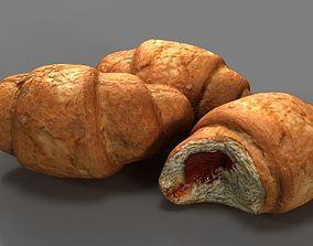 croissant 3D asset realtime