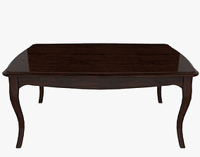 Classical Wooden Table 3D asset VR / AR ready