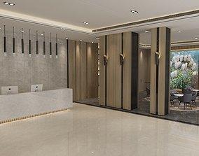 Reception Lobby 3D model reception
