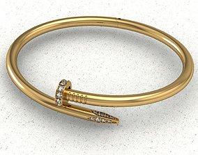Bracelet nail 3D print model gold