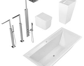 3D model Bathroom Fixtures 01
