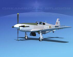 3D model North American Mustang X RAAF V02