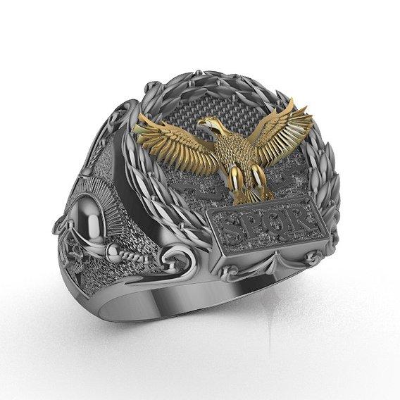 Ring men eagle