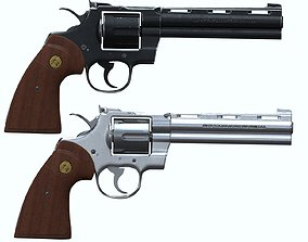 3D Colt Python 357 weapon