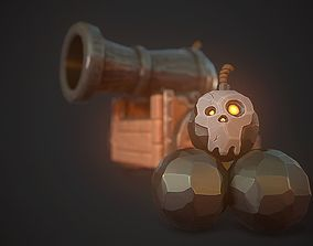 3D asset realtime Pirate Cannon