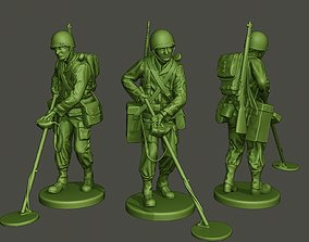 American engineer soldier ww2 Analyzing 3D printable model