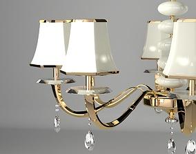 Golden Chandelier 3D model