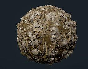 3D model Skulls Bones Seamless PBR Texture 25