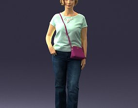 Woman in blue blouse 0043 3D Print Ready